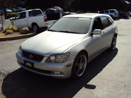 2002 LEXUS IS300 4 DOOR STATION WAGON 3.0L IN LINE AT RWD COLOR SILVER Z14758