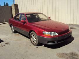 1992 LEXUS ES 300 STD MDL 4 DOOR SEDAN 3.0L V6 AT 2WD COLOR RED Z13534