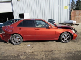 2001 LEXUS IS300 ORANGE 3.0L AT Z16555
