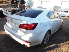 2007 LEXUS IS250 WHITE 2.5L AT Z17645